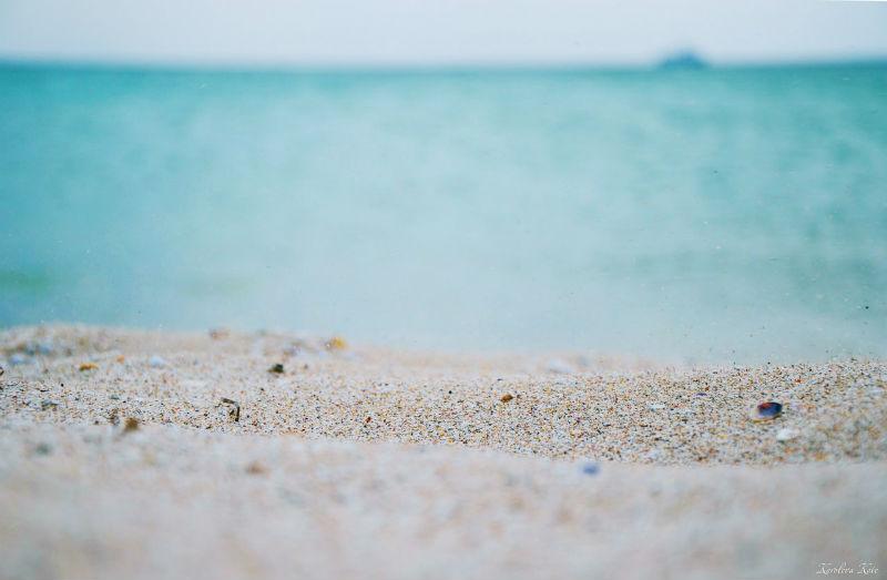 Пляж на Тарханкуте в Крыму